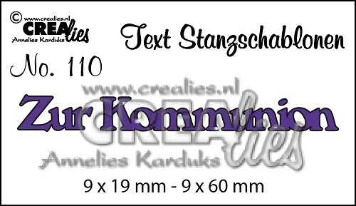 Text Stanzschablonen no. 110 Zur Kommunion