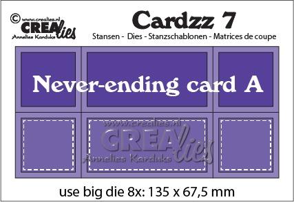 Cardzz stansen/dies no. 7, Never-ending card