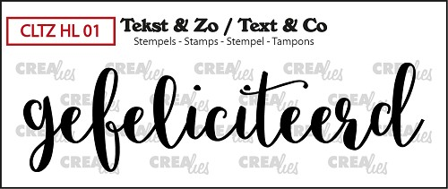Text & Co stamp, Handlettering no 1, Gefeliciteerd