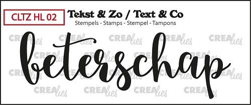 Tekst & Zo stempel, Handlettering no 2, Beterschap