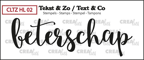 Text & Co stamp, Handlettering no 2, Beterschap