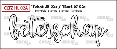 Text & Co stamp, Handlettering no 2A, Beterschap omlijning