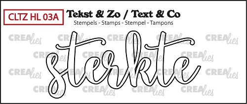 Text & Co stamp, Handlettering no 3A, Sterkte omlijning