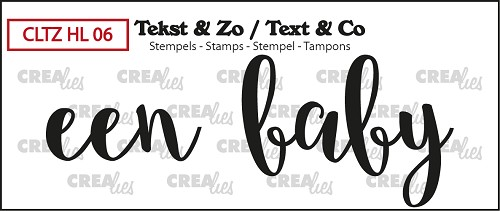 Text & Co stamp, Handlettering no. 6, Een Baby