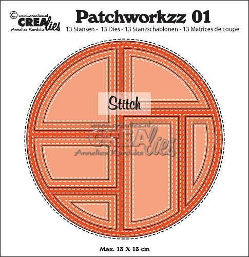 Patchworkzz dies no. 1, Stitched patchwork in circle