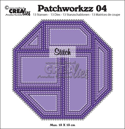 Patchworkzz dies no. 4, Stitched patchwork in octagon