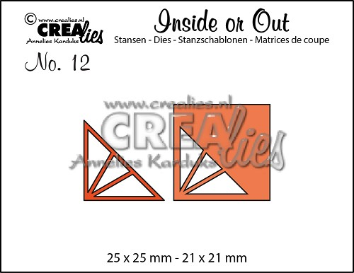 Inside or Out dies no. 12, Corners F triangle