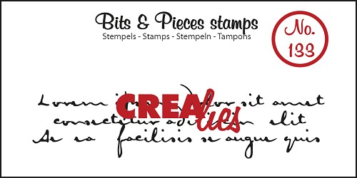 Bits & Pieces stamp no. 133, Old handwriting 3 lines