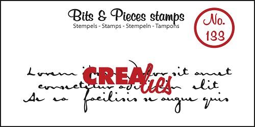 Bits & Pieces stempel no. 133, Oud handschrift 3 regels