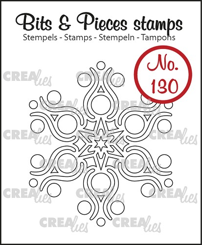 Bits & Pieces stempel no. 130, Sneeuwvlok B
