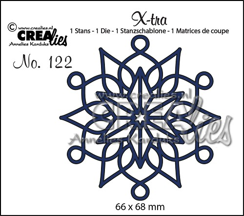 X-tra stans/die no. 122, Sneeuwvlok A/Snowflake A