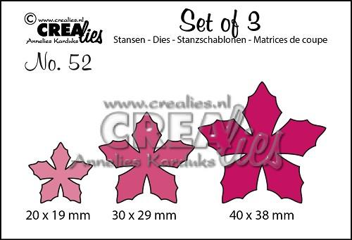 Set of 3 stansen no. 52, Bloemen 23