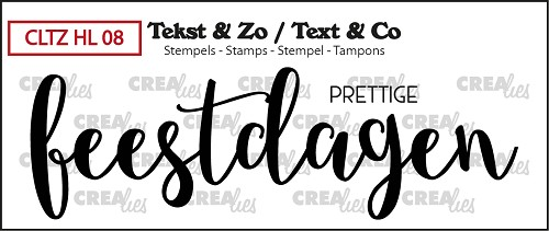 Text & Co stamp, Handlettering no 8, Prettige feestdagen, (closed)
