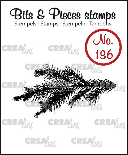 Bits & Pieces stamp no. 136, Pine branch
