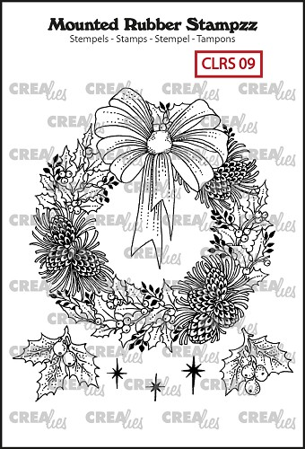 Mounted Rubber Stampzz no. 9, Wreath