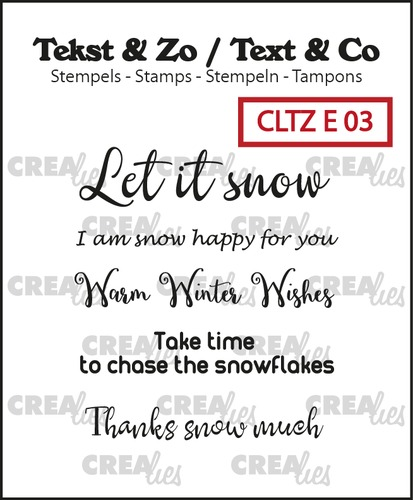 Text & Co English stamps no. 3, Snow