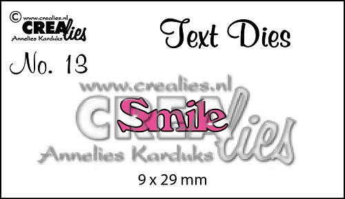 Text Die no. 13, Smile
