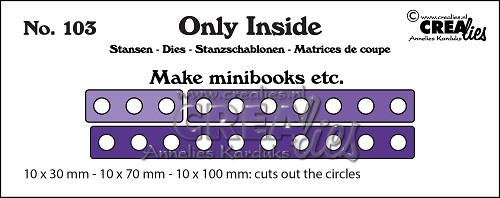 Only Inside die no. 103, Mini book holes