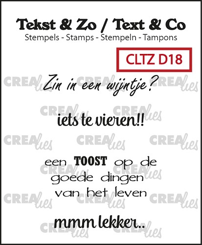 Text & Co stamps, Divers 18, Wijn B