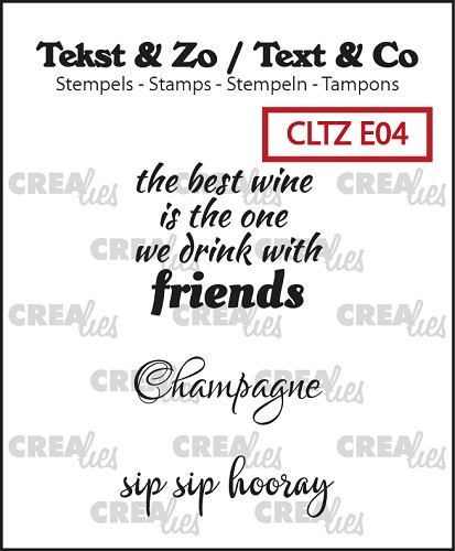 Text & Co English stamps no. 4, Wine C