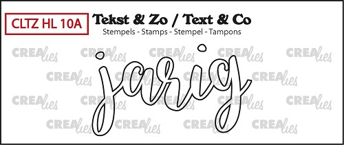 Text & Co stamp, Handlettering no. 10A, Jarig (outline)