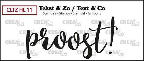 Text & Co stamp, Handlettering no. 11, Proost! (closed)