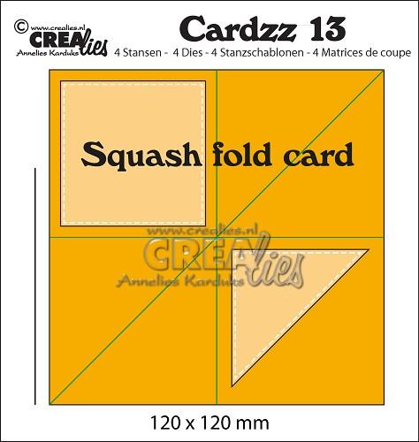 Cardzz stansen no. 13, Squash fold card