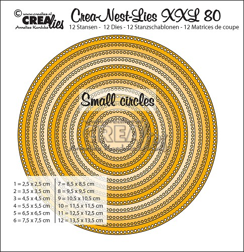 Crea-Nest-Lies XXL dies no. 80, Circles with small circles