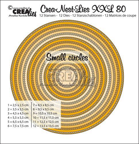 Crea-Nest-Lies XXL stansen no. 80, Cirkels met kleine gaatjes