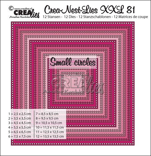 Crea-Nest-Lies XXL dies no. 81, Squares with small circles