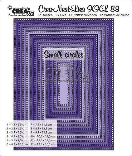 Crea-Nest-Lies XXL stansen no. 83, Rechthoeken met kleine gaatjes
