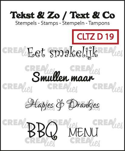 Text & Co stamps, Divers 19, Eten