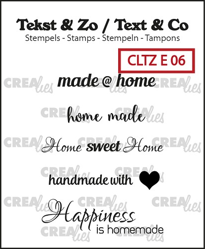 Tekst & Zo English stamps no. 6, Home