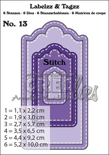 Labelzz & Tagzz stansen no. 13, Met stiksteeklijn