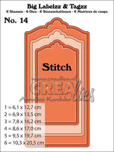 Big Labelzz & Tagzz dies no. 14, With stitch line