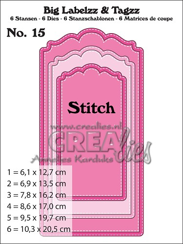 Big Labelzz & Tagzz dies no. 15, With stitch line
