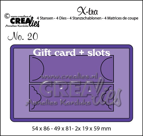 X-tra dies no. 20, Gift card with slots
