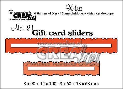 X-tra stansen no. 21, Cadeaukaart openingen