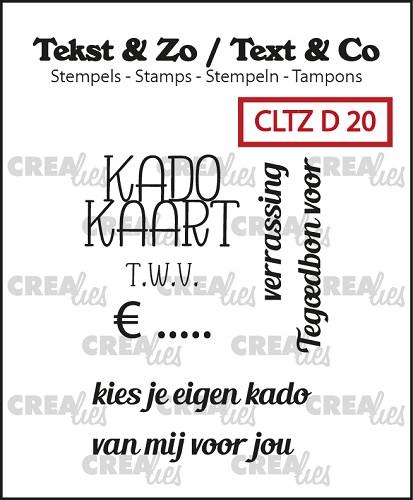 Tekst & Zo stempels, Divers 20, Kadokaart
