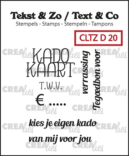 Text & Co stamps, Divers 20, Giftcard