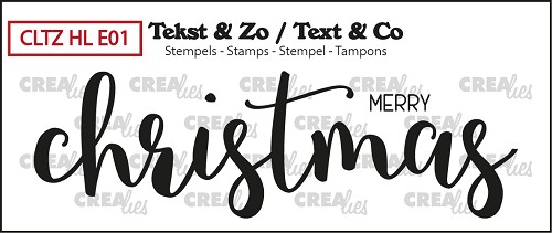 Text & Co English stamp Handlettering no. 1, Merry Christmas, solid