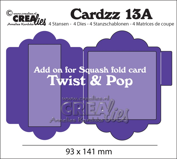 Cardzz stansen/dies no. 13A, Add on for Cardzz 13: Twist & Pop