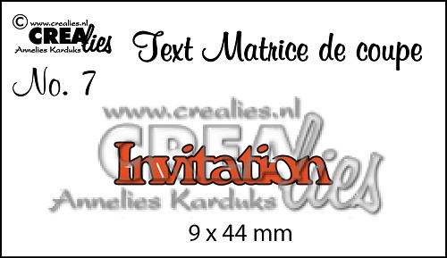 Matrice de coupe texte no. 07 Invitation