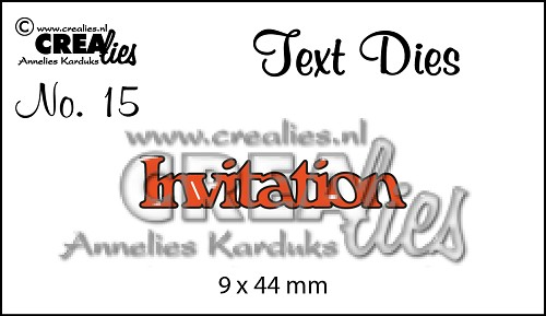 Text Die no. 15 Invitation