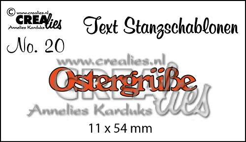 Text Stanzschablonen no. 20 Ostergrüsse