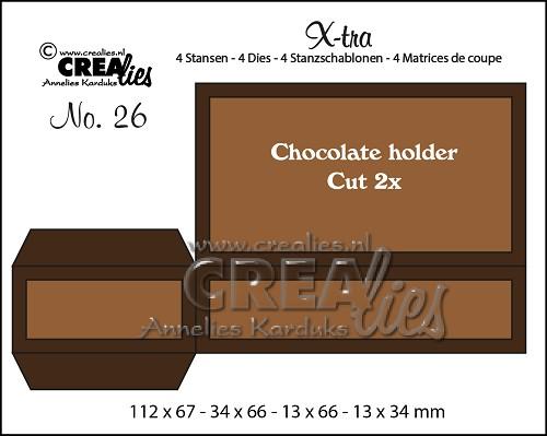 X-tra stansen no. 26, Chocolade houder