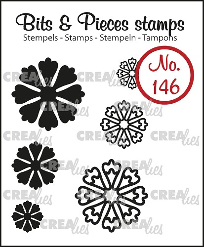 Bits & Pieces stempel no. 146, 6x Mini bloemen 24