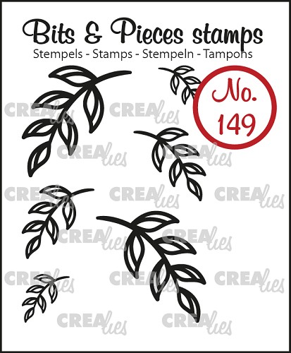 Bits & Pieces stempel no. 149, 6x Mini blaadjes 5