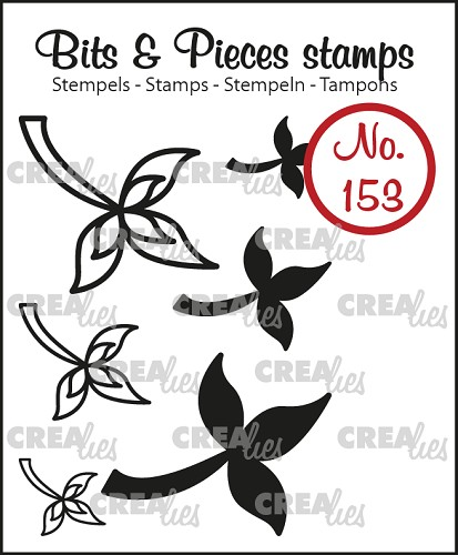 Bits & Pieces stempel no. 153, 6x Mini blaadjes 10