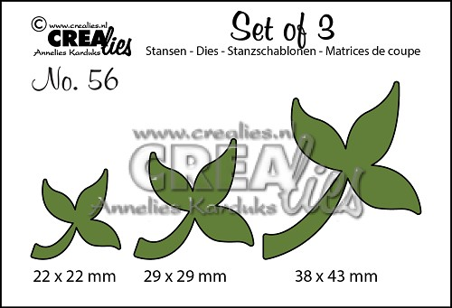 Set of 3 stansen no. 56, Blaadjes 10